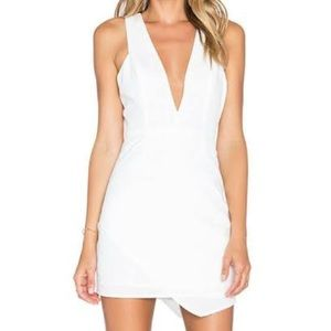 NWT! NBD x Naven Twin Asymmetrical White Dress